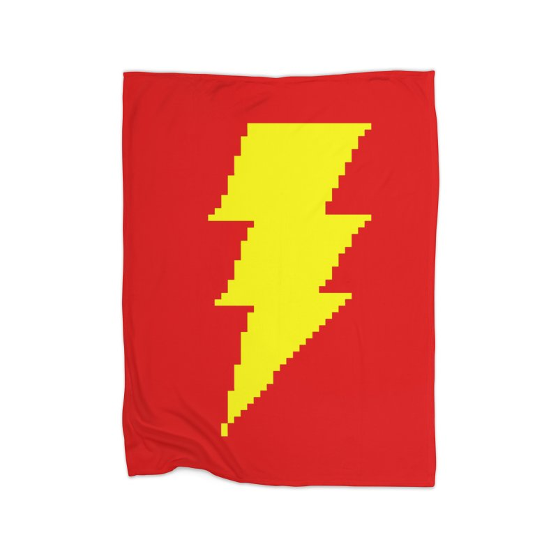 Captain Marvel - Pixel Logo Home Fleece Blanket Blanket by Silli Philli Produktionz