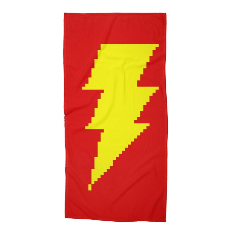 Captain Marvel - Pixel Logo Accessories Beach Towel by Silli Philli Produktionz