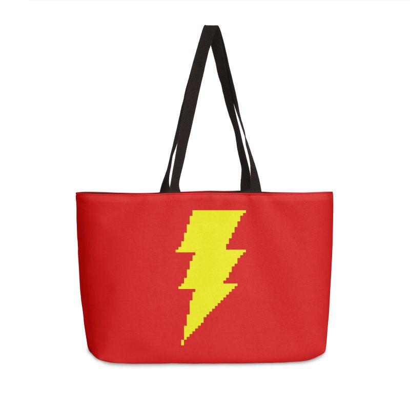 Captain Marvel - Pixel Logo Accessories Weekender Bag Bag by Silli Philli Produktionz