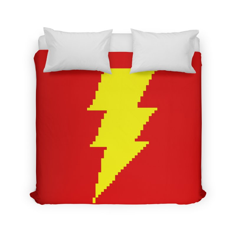 Captain Marvel - Pixel Logo Home Duvet by Silli Philli Produktionz