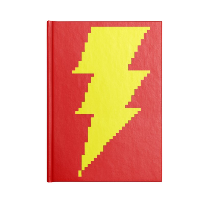 Captain Marvel - Pixel Logo Accessories Lined Journal Notebook by Silli Philli Produktionz