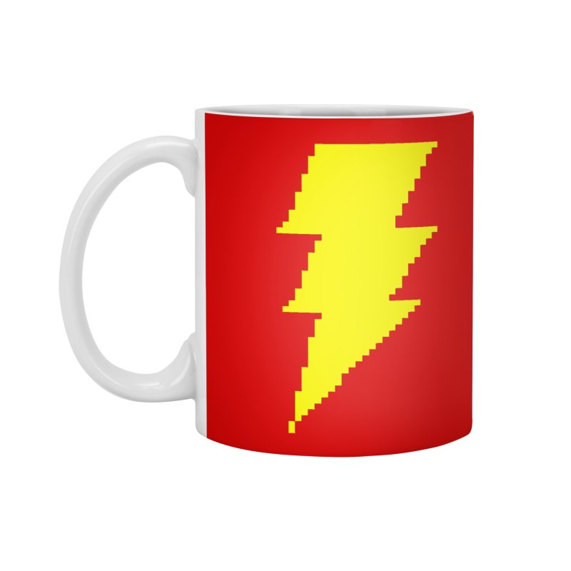 Captain Marvel - Pixel Logo Accessories Standard Mug by Silli Philli Produktionz
