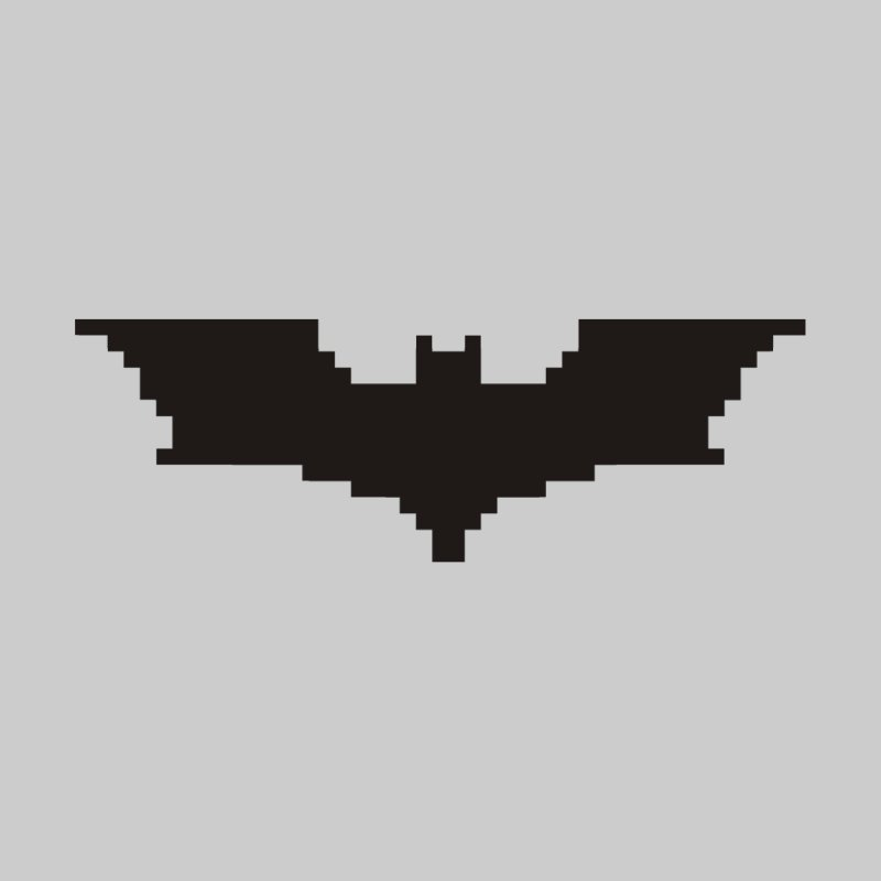 Batman Begins - Pixel Logo Home Fine Art Print by Silli Philli Produktionz