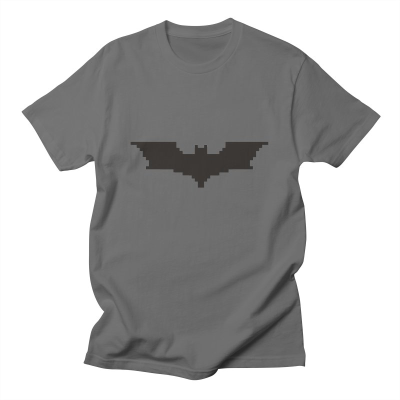 Batman Begins - Pixel Logo Men's T-Shirt by Silli Philli Produktionz | Custom Prints