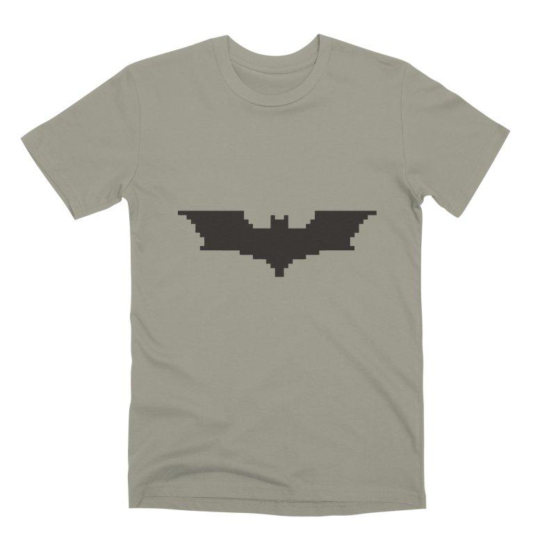 Batman Begins - Pixel Logo Men's Premium T-Shirt by Silli Philli Produktionz