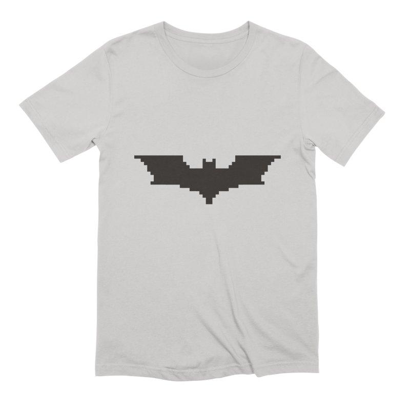 Batman Begins - Pixel Logo Men's Extra Soft T-Shirt by Silli Philli Produktionz