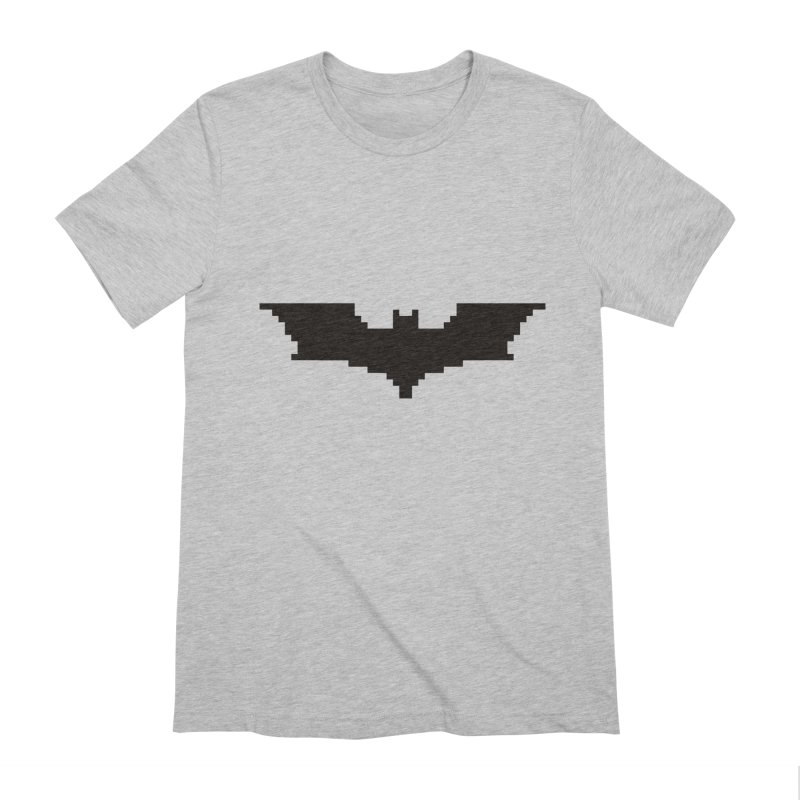 Batman Begins - Pixel Logo Men's Extra Soft T-Shirt by Silli Philli Produktionz