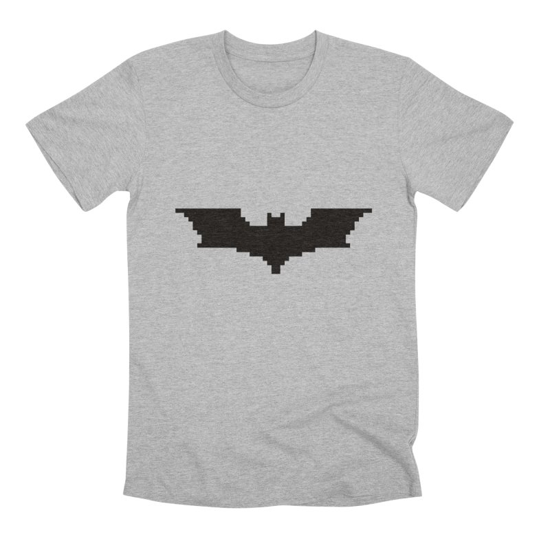 Batman Begins - Pixel Logo Men's Premium T-Shirt by Silli Philli Produktionz