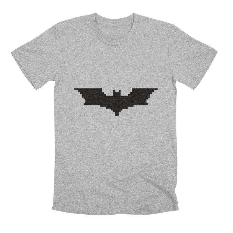 Batman Begins - Pixel Logo Men's Premium T-Shirt by Silli Philli Produktionz | Custom Prints