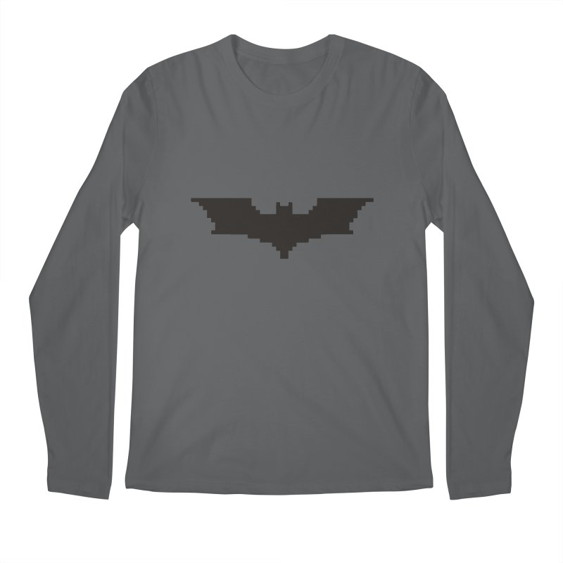 Batman Begins - Pixel Logo Men's Longsleeve T-Shirt by Silli Philli Produktionz