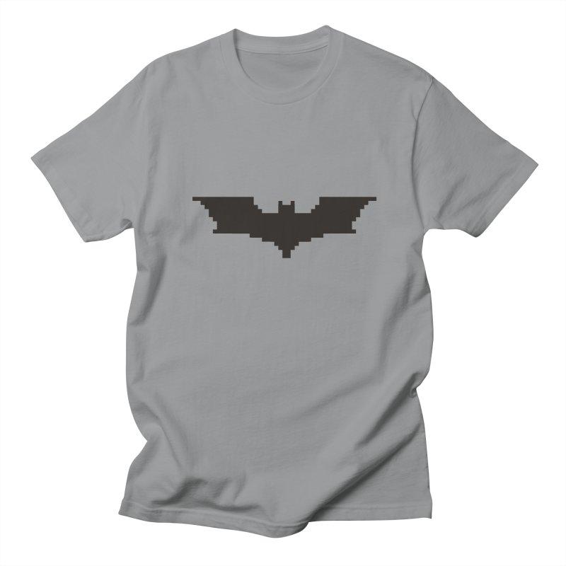 Batman Begins - Pixel Logo Men's Regular T-Shirt by Silli Philli Produktionz