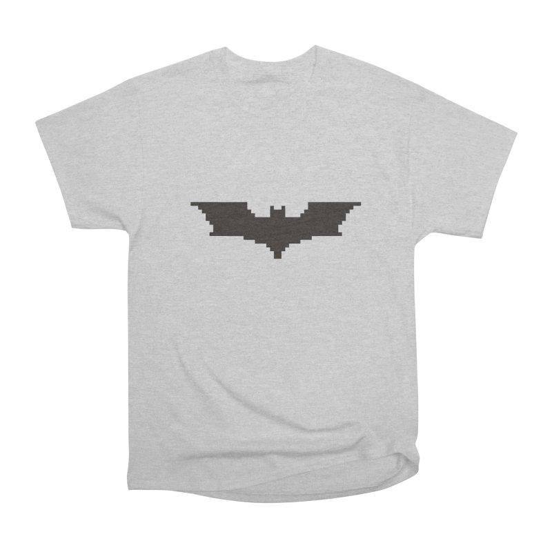 Batman Begins - Pixel Logo Women's Heavyweight Unisex T-Shirt by Silli Philli Produktionz