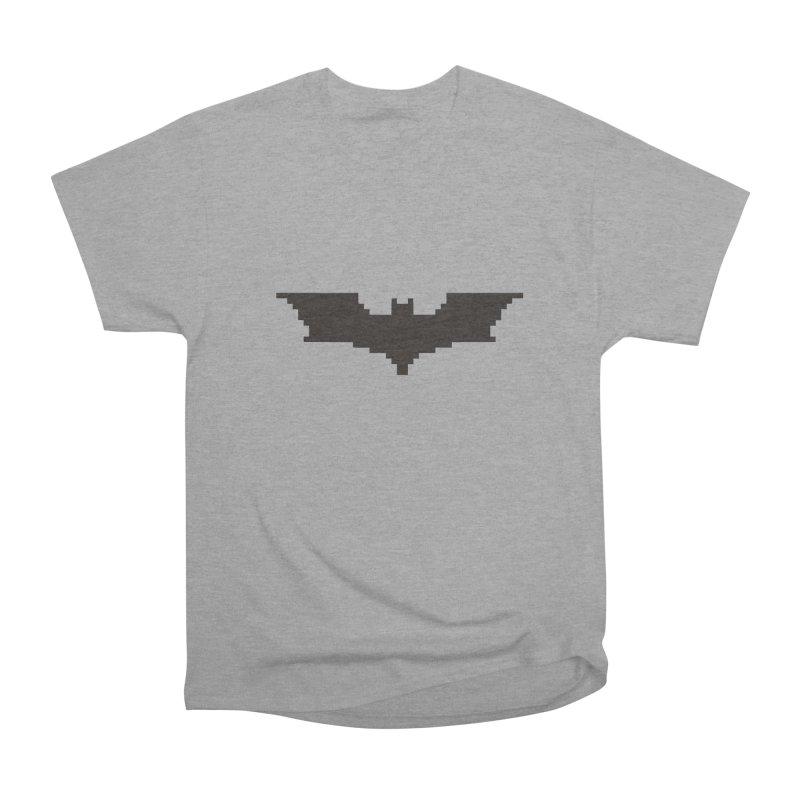 Batman Begins - Pixel Logo Men's Heavyweight T-Shirt by Silli Philli Produktionz
