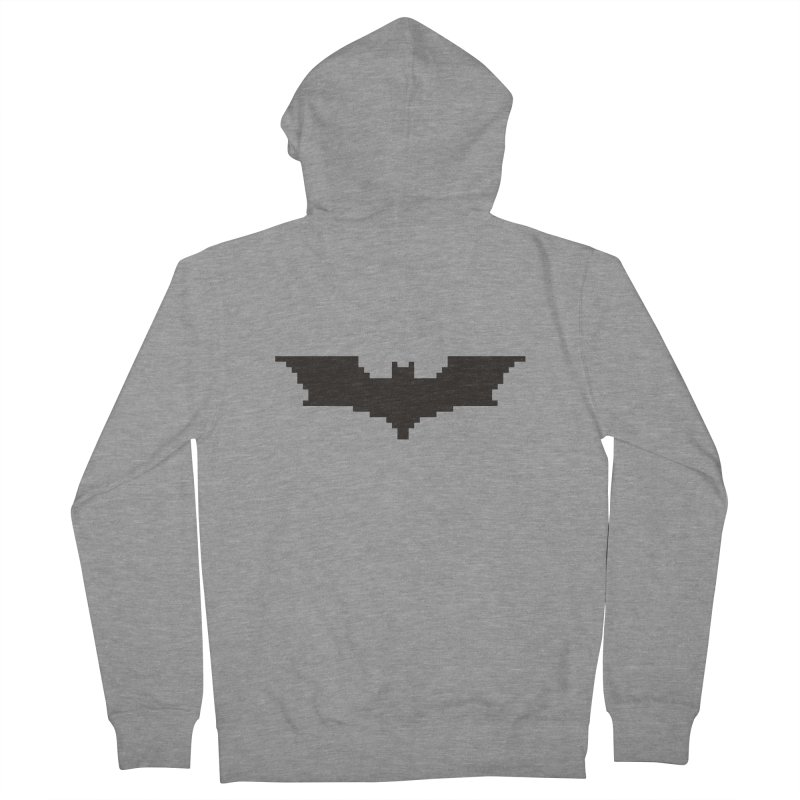 Batman Begins - Pixel Logo Women's French Terry Zip-Up Hoody by Silli Philli Produktionz