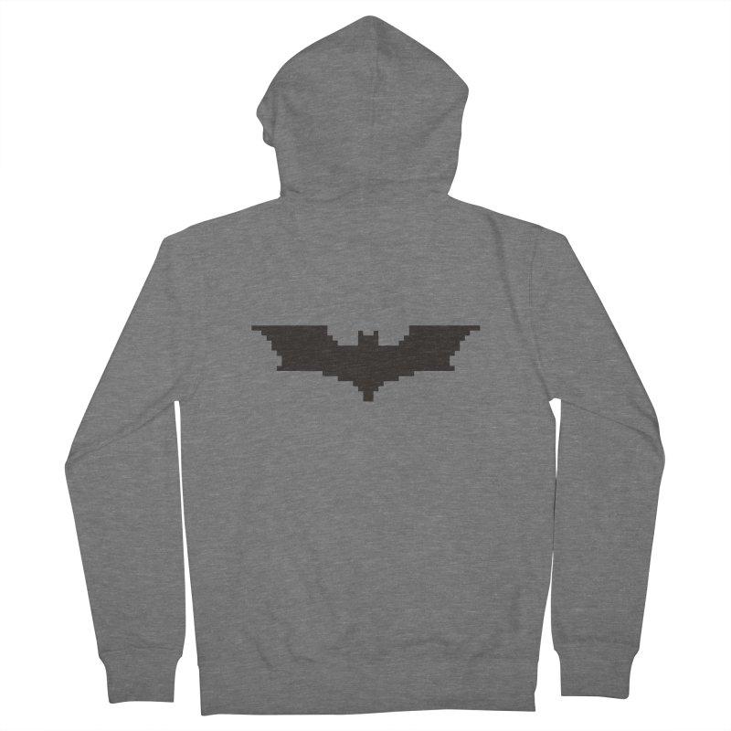 Batman Begins - Pixel Logo Men's Zip-Up Hoody by Silli Philli Produktionz | Custom Prints