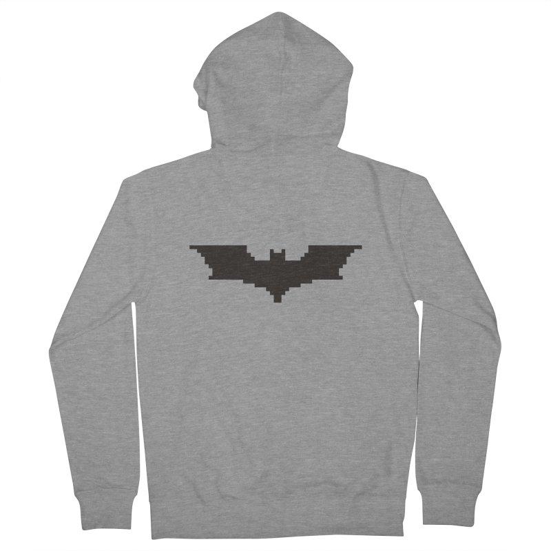 Batman Begins - Pixel Logo Men's French Terry Zip-Up Hoody by Silli Philli Produktionz