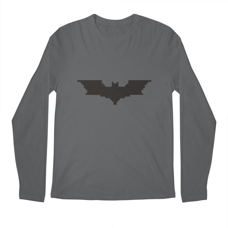 Batman Begins - Pixel Logo Men's Longsleeve T-Shirt by Silli Philli Produktionz | Custom Prints