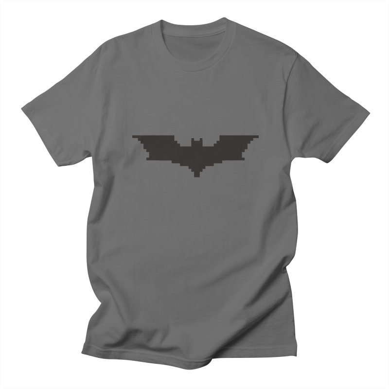 Batman Begins - Pixel Logo Men's T-Shirt by Silli Philli Produktionz | Custom Prints