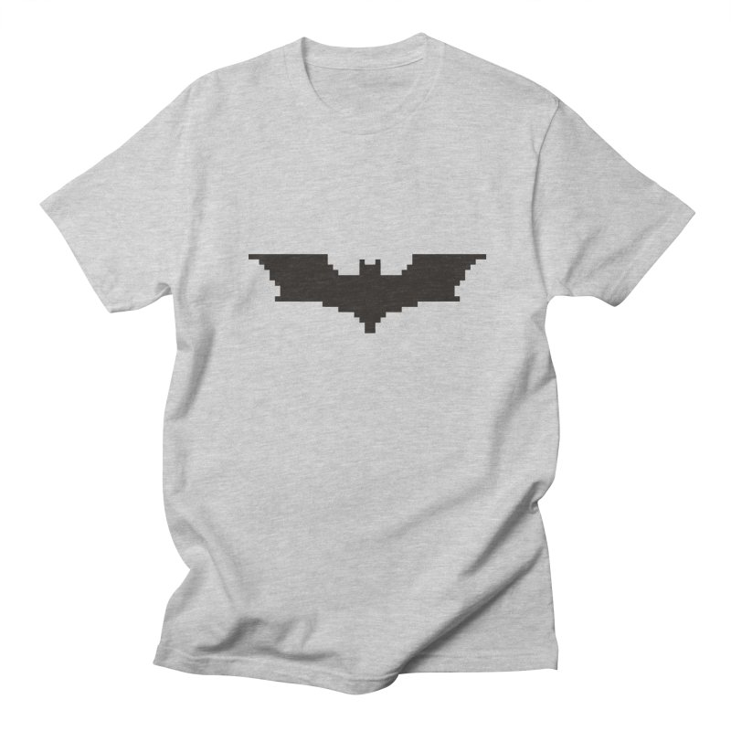 Batman Begins - Pixel Logo Men's Regular T-Shirt by Silli Philli Produktionz