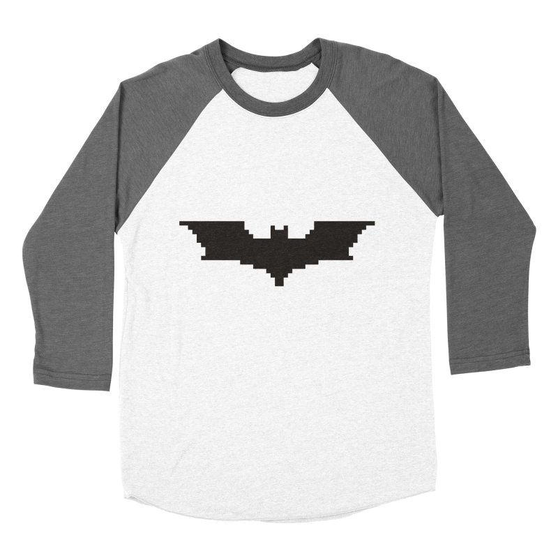 Batman Begins - Pixel Logo Women's Baseball Triblend Longsleeve T-Shirt by Silli Philli Produktionz