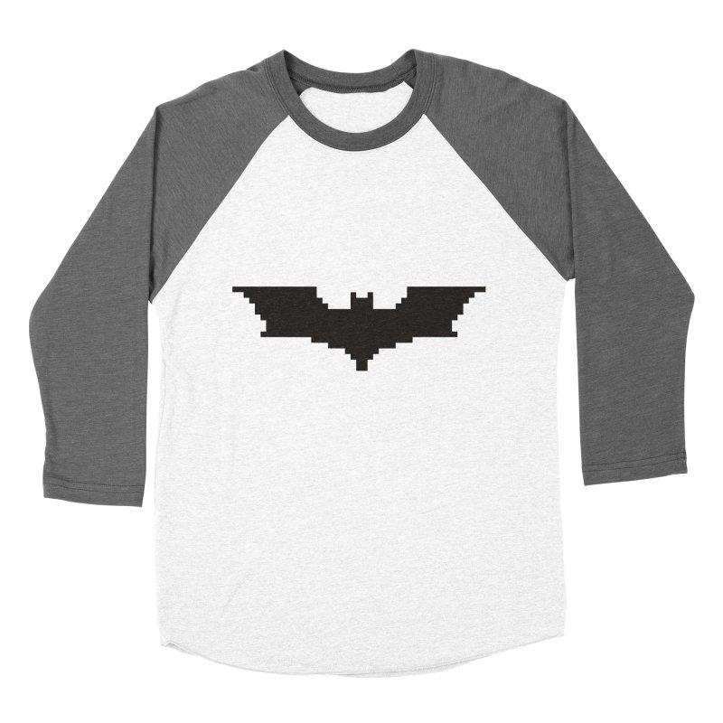 Batman Begins - Pixel Logo Women's Baseball Triblend Longsleeve T-Shirt by Silli Philli Produktionz | Custom Prints