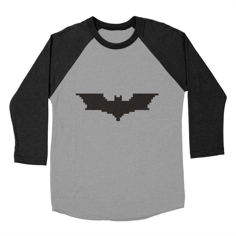 Batman Begins - Pixel Logo Men's Baseball Triblend Longsleeve T-Shirt by Silli Philli Produktionz