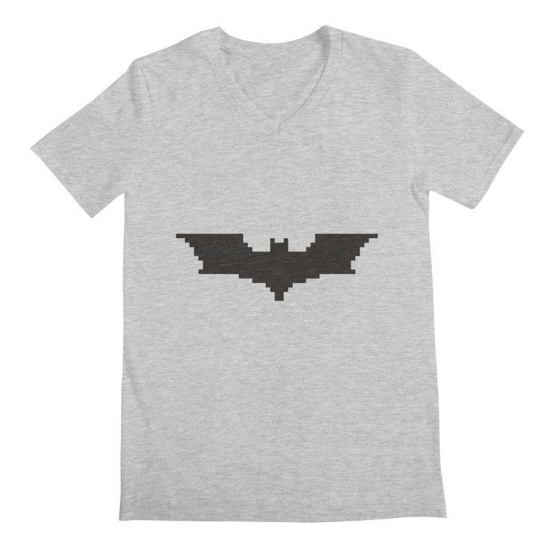 Batman Begins - Pixel Logo Men's Regular V-Neck by Silli Philli Produktionz