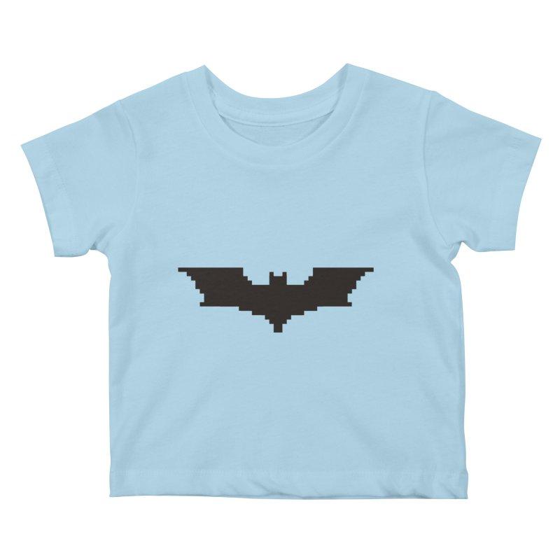Batman Begins - Pixel Logo Kids Baby T-Shirt by Silli Philli Produktionz