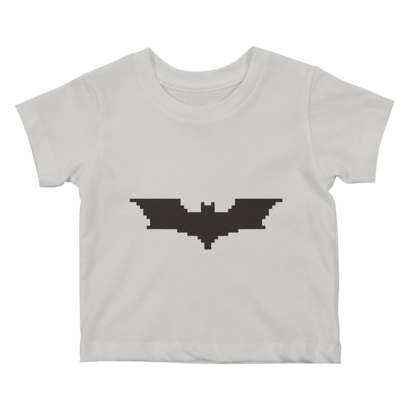 Batman Begins - Pixel Logo in Kids Baby T-Shirt Stone by Silli Philli Produktionz