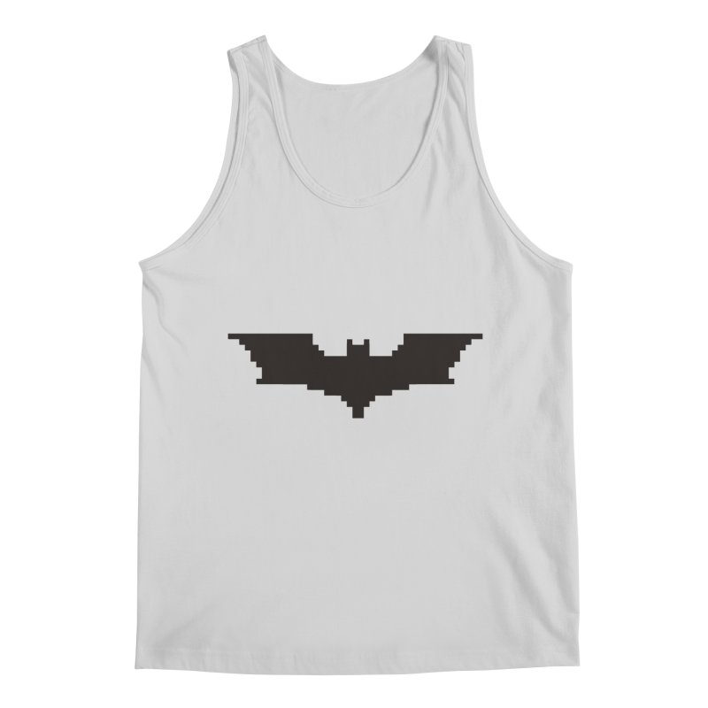Batman Begins - Pixel Logo Men's Tank by Silli Philli Produktionz | Custom Prints