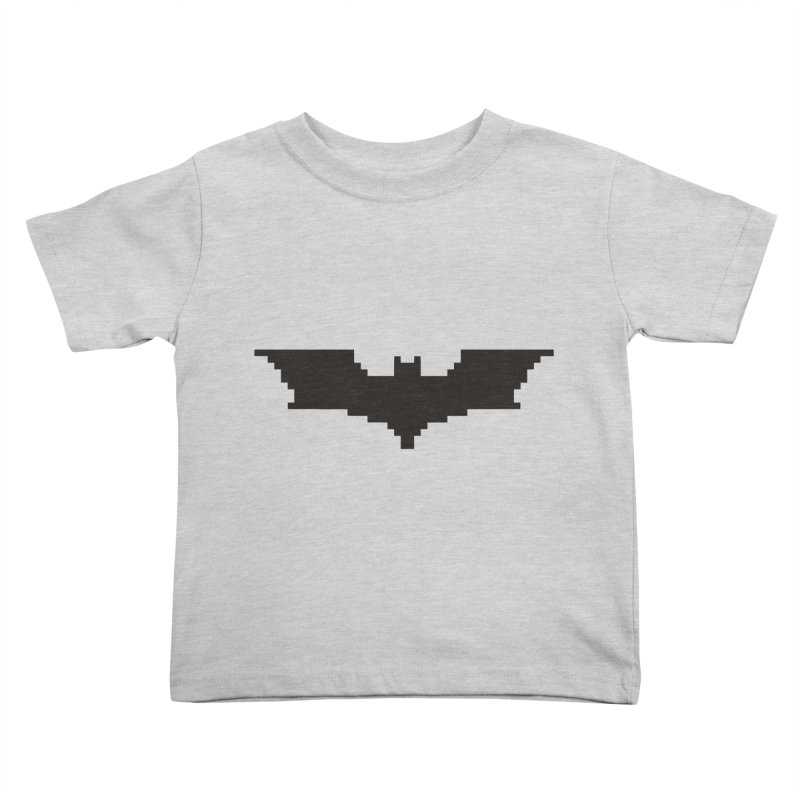Batman Begins - Pixel Logo Kids Toddler T-Shirt by Silli Philli Produktionz