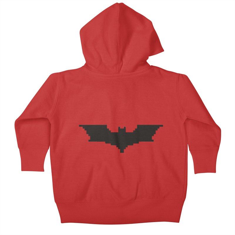 Batman Begins - Pixel Logo Kids Baby Zip-Up Hoody by Silli Philli Produktionz
