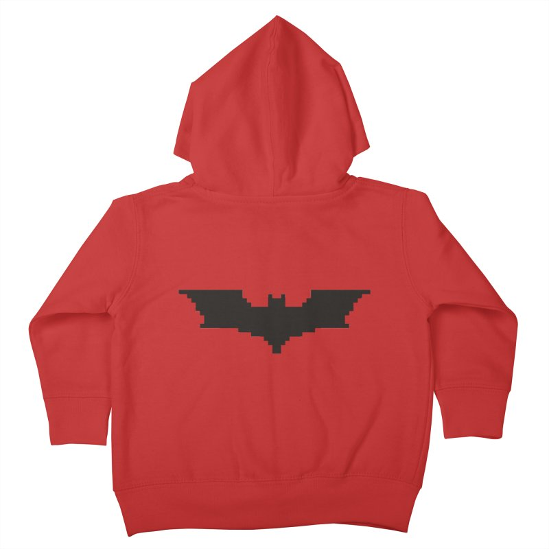 Batman Begins - Pixel Logo Kids Toddler Zip-Up Hoody by Silli Philli Produktionz | Custom Prints