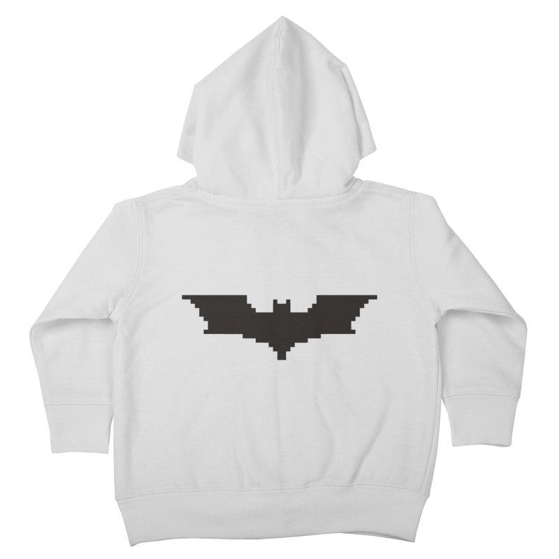 Batman Begins - Pixel Logo Kids Toddler Zip-Up Hoody by Silli Philli Produktionz