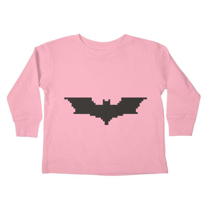 Batman Begins - Pixel Logo Kids Toddler Longsleeve T-Shirt by Silli Philli Produktionz