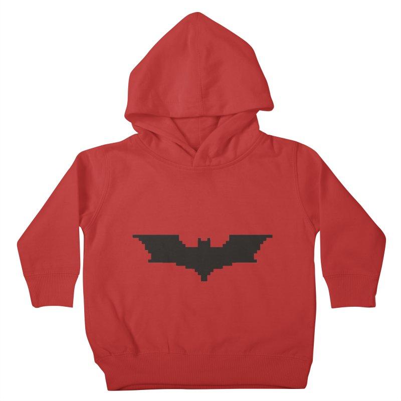 Batman Begins - Pixel Logo Kids Toddler Pullover Hoody by Silli Philli Produktionz