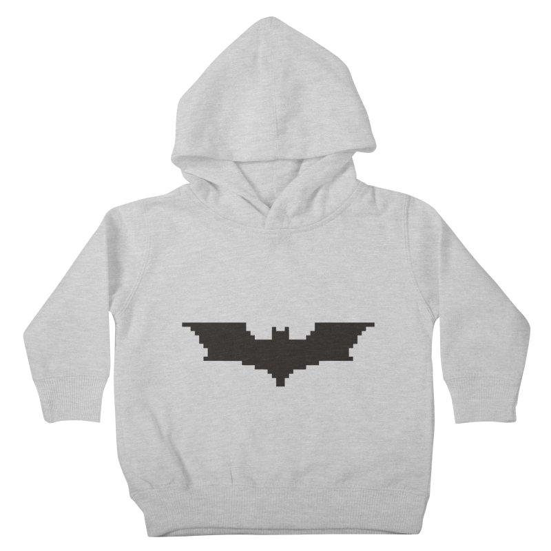Batman Begins - Pixel Logo Kids Toddler Pullover Hoody by Silli Philli Produktionz   Custom Prints