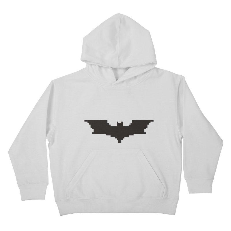 Batman Begins - Pixel Logo Kids Pullover Hoody by Silli Philli Produktionz
