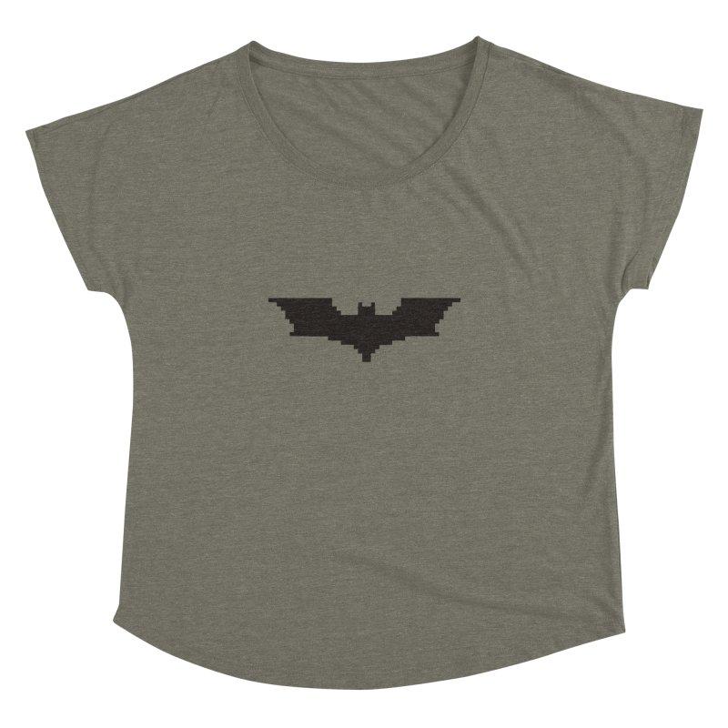 Batman Begins - Pixel Logo Women's Dolman Scoop Neck by Silli Philli Produktionz