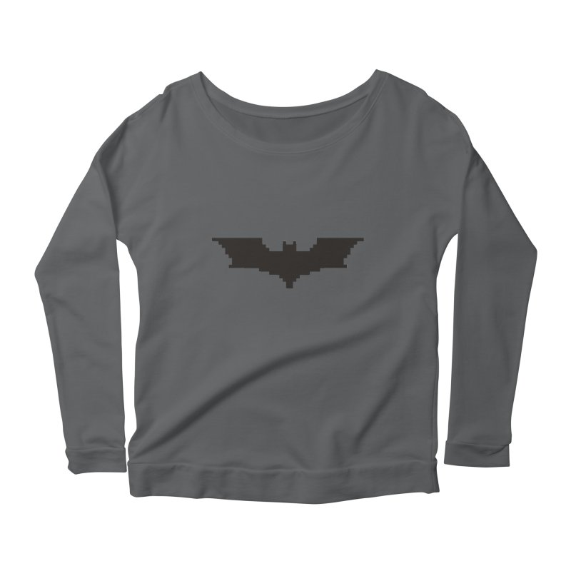 Batman Begins - Pixel Logo Women's Scoop Neck Longsleeve T-Shirt by Silli Philli Produktionz