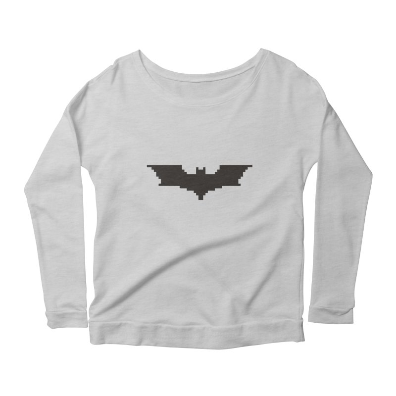 Batman Begins - Pixel Logo Women's Scoop Neck Longsleeve T-Shirt by Silli Philli Produktionz