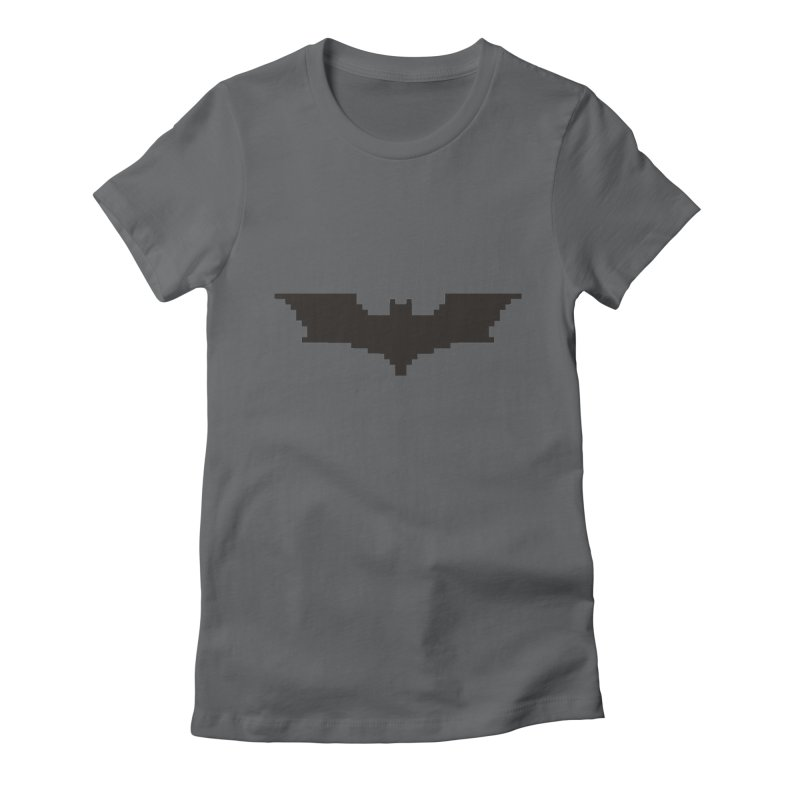 Batman Begins - Pixel Logo Women's Fitted T-Shirt by Silli Philli Produktionz