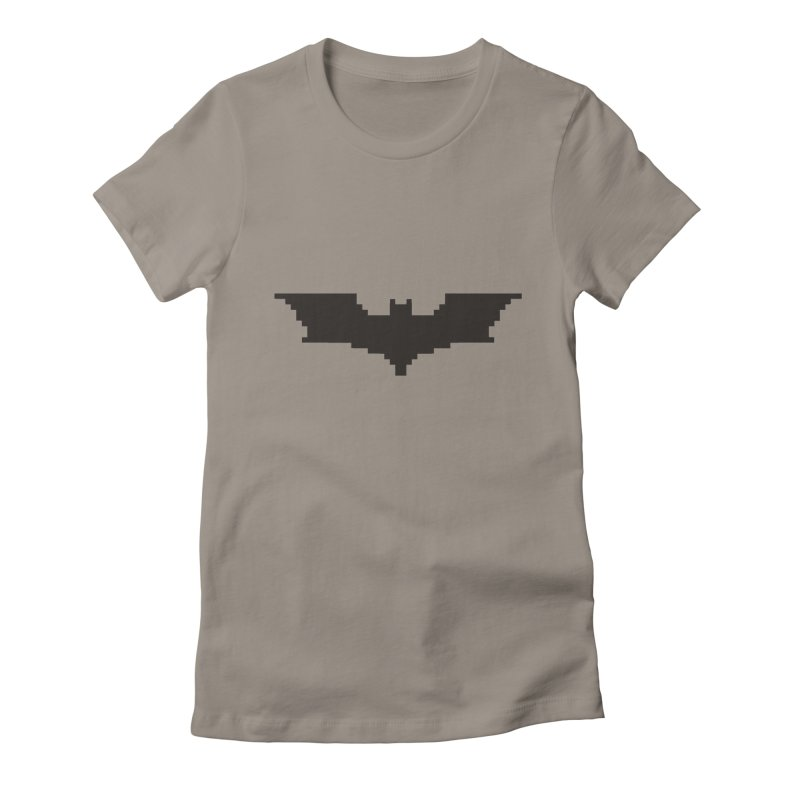 Batman Begins - Pixel Logo Women's Fitted T-Shirt by Silli Philli Produktionz