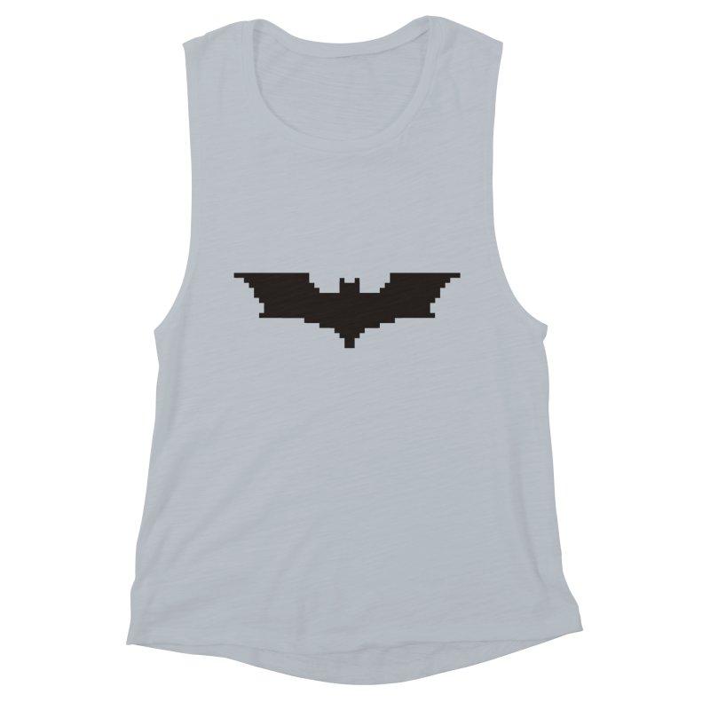 Batman Begins - Pixel Logo Women's Muscle Tank by Silli Philli Produktionz | Custom Prints