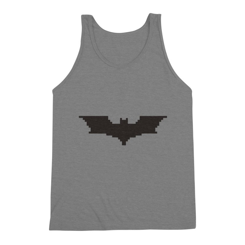 Batman Begins - Pixel Logo Men's Triblend Tank by Silli Philli Produktionz