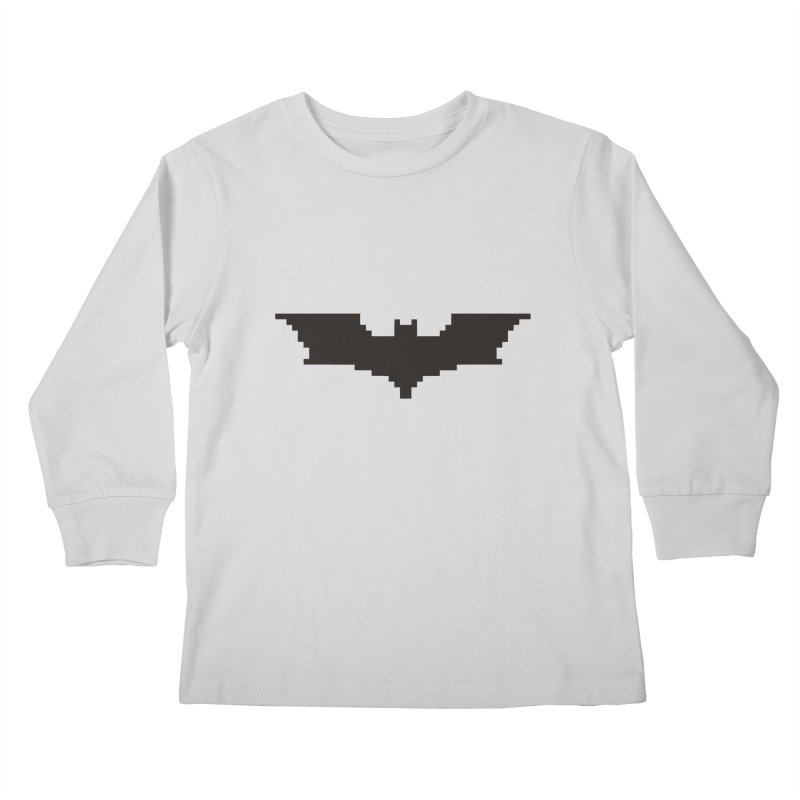 Batman Begins - Pixel Logo Kids Longsleeve T-Shirt by Silli Philli Produktionz | Custom Prints