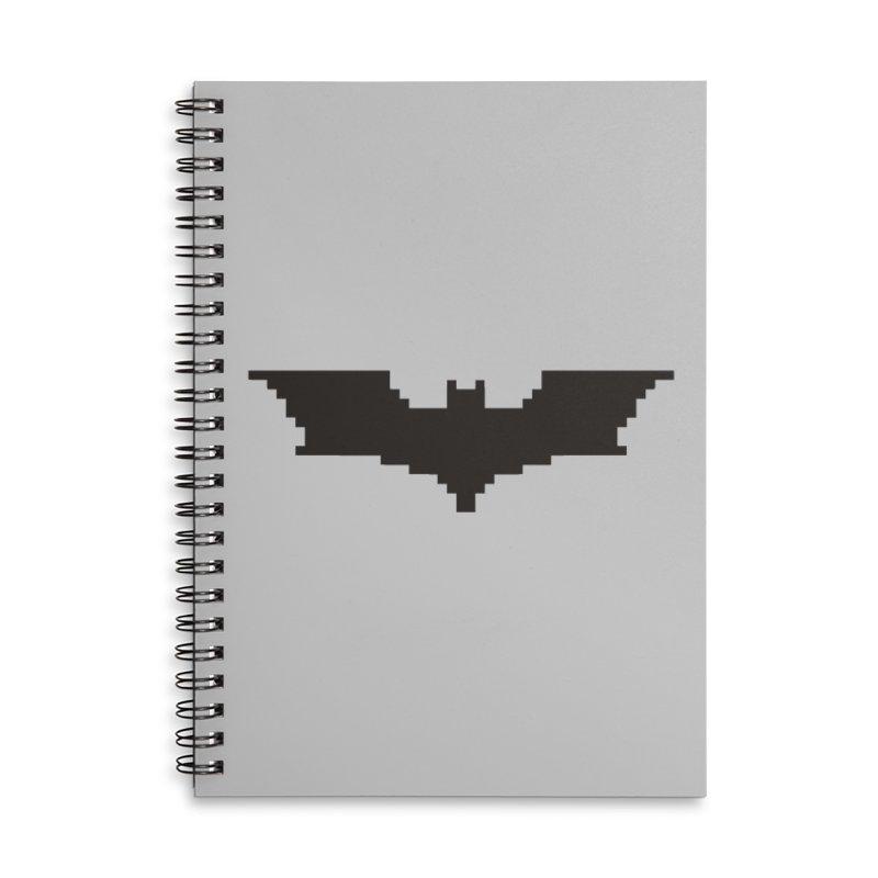 Batman Begins - Pixel Logo Accessories Lined Spiral Notebook by Silli Philli Produktionz