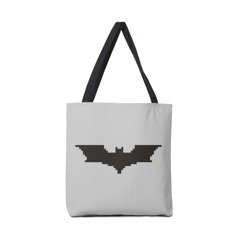 Batman Begins - Pixel Logo Accessories Tote Bag Bag by Silli Philli Produktionz | Custom Prints