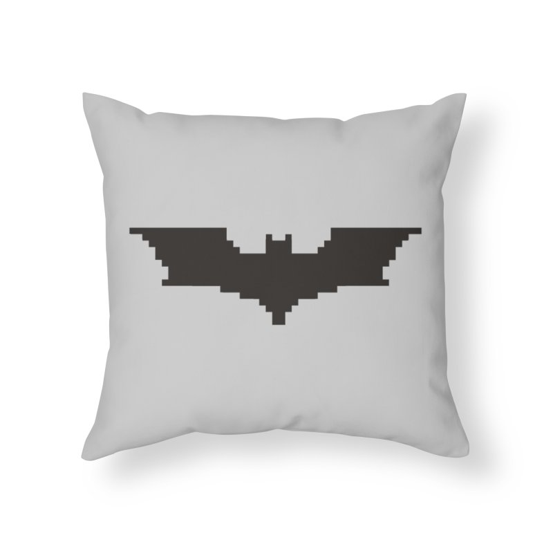 Batman Begins - Pixel Logo Home Throw Pillow by Silli Philli Produktionz
