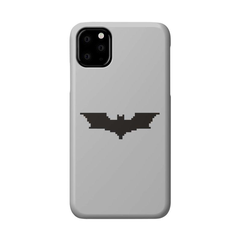 Batman Begins - Pixel Logo Accessories Phone Case by Silli Philli Produktionz | Custom Prints